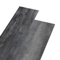 Panele podłogowe z PVC, 5,26 m², 2 mm, lśniący szary