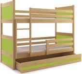 Łóżko piętrowe dla dzieci RICO dziecięce meble 200x90 + MATERACE