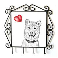 Shiba Inu- kolekcja wieszaków z wizerunkiem psa. Kolekcja. Pies z sercem