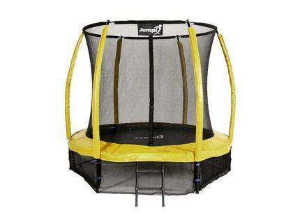 Trampolina Ogrodowa 252cm/8ft żółta Maxy Comfort Plus Z Wewnętrzną siatką