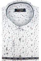 Koszula Męska Massaro biała we wzorki na długi rękaw w kroju SLIM FIT A406 XL 43 182/188