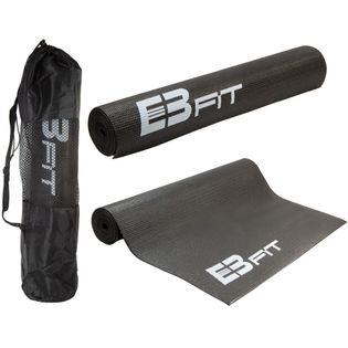 Mata do jogi antypoślizgowa 173x61x0,5cm czarna  z torbą Eb Fit
