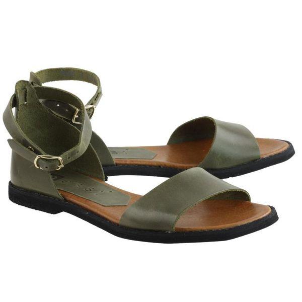 Khaki Sandały Nessi 18382 damskie buty skóra R.41
