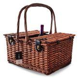 Kosz piknikowy z dodatkową komorą na wino 4 os ceramika prezent