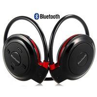 CZARNE Słuchawki sportowe do biegania Bluetooth Radio Karta Pamięci