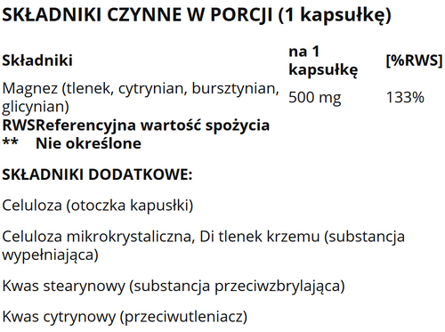 Life Extension Magnez 500 mg 100 kapsułek na Arena.pl
