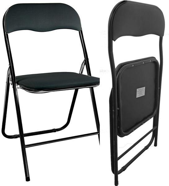 Biurowe Krzesło Składane Ogrodowe Bankietowe Konferencyjne Czarne