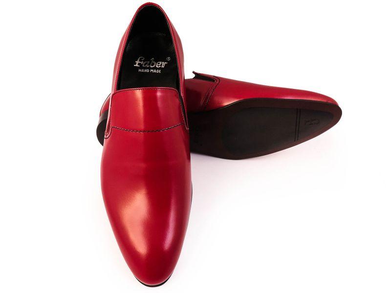 Czerwone wsuwane buty męskie F42 Rozmiar Obuwia - 40 zdjęcie 4