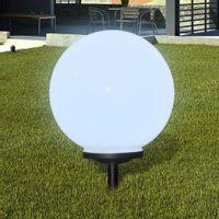 Zewnętrzna lampa solarna LED, kula, 40 cm, 1 szt., z bolcem