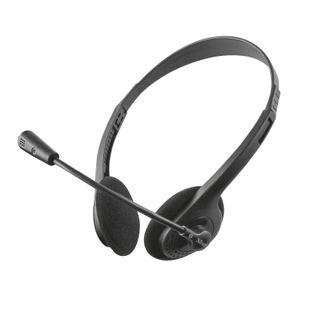 Trust Primo Chat - Słuchawki z mikrofonem (Czarny)