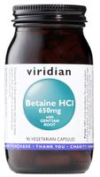 Betaina HCL z goryczką Beatine HCL 650mg with gentain root 90 kapsułek Viridian