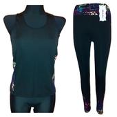 Komplet fitness spodnie + koszulka L/XL