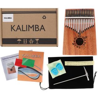 Drewniana Kalimba zanza pianino 17 klawiszy W-17T-5 brązowa