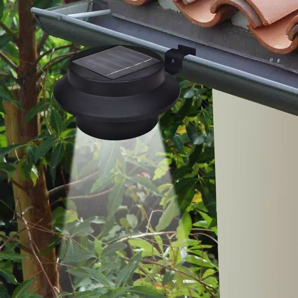 Lampy solarne, 6 sztuk, czarne zdjęcie 2