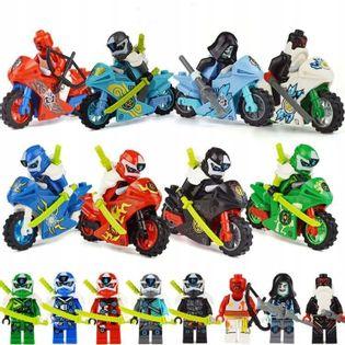 MEGA figurki MOTORY 8+8szt +karta lego ninjago zPL