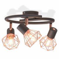 Lampa sufitowa z 3 żarówkami z diodami LED, 12 W