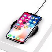 Baseus Simple - Bezprzewodowa ładowarka indukcyjna Qi do iPhone i Android, 10 W (czarny) zdjęcie 4