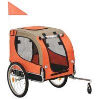 Przyczepka rowerowa dla psa, pomarańczowo-brązowa