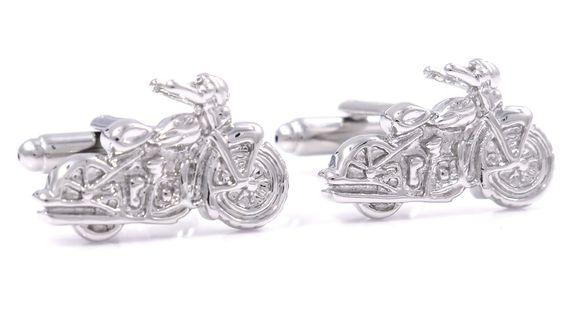 Srebrne spinki do mankietów -  motocykl Harley U27