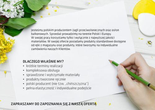OSŁONA BALKONOWA MATA NA BARIERKĘ EKONOMICZNA BIAŁA 2,5X1M na Arena.pl