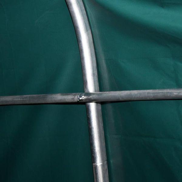 Przenośny namiot dla bydła, PVC, 3,3 x 12,8 m, ciemnozielony zdjęcie 2
