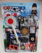 Zestaw policyjny pistolet lizak kajdanki 0415