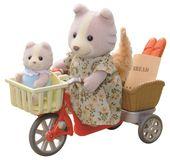 Sylvanian Families przejażdżka rowerowa z mamą