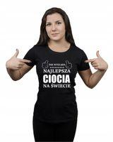 Koszulka damska TAK WYGLĄDA NAJLEPSZA CIOCIA XXL