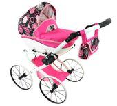DUŻY Solidny POLSKI Wózek dla lalek lalkowy RETRO Metalowe koła zdjęcie 2