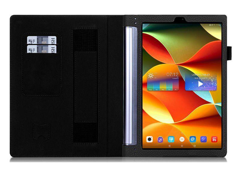 """Etui skórzane Lenovo Yoga Tab 3 Pro 10"""" X90 Niebieskie + Szkło zdjęcie 4"""