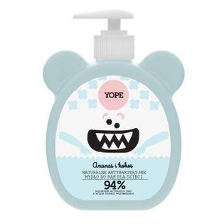 Antybakteryjne mydło do rąk dla dzieci - Ananas i Kokos - 400ml - Yope