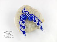 Kolczyki sutasz Sopelki Niebieskie kryształy Swarovskiego