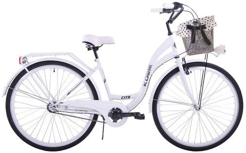 (K25) Rower miejski damski Kozbike 28 biały 3 biegi