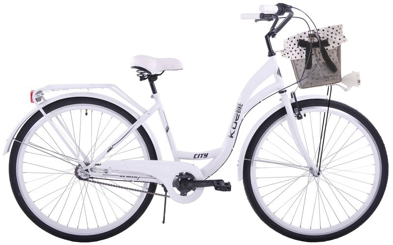 (K25) Rower miejski damski Kozbike 28 biały 3 biegi na Arena.pl