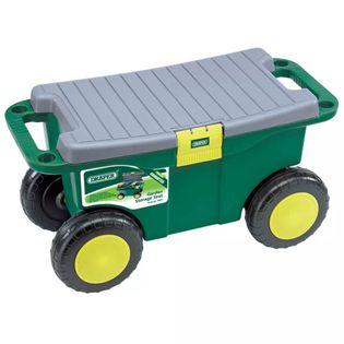 Ogrodowy wózek na narzędzia z siedzeniem zielony 60.852 VidaXL