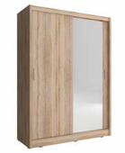 Szafa garderoba przesuwna MAJA 150 cm pojedyncze lustro zdjęcie 3