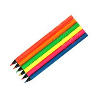 Kredki ołówkowe 6 kolorów Black Wood Jumbo Cricco