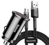 Baseus ładowarka samochodowa 3.0 30W Kabel Micro