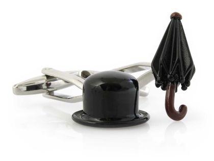 Spinki do mankietów - parasol, kapelusz A211