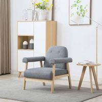 Fotel, jasnoszary, tkanina