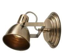 Lampa kinkiet Fjall mosiądz ant regulowany stalowy Retro fr1