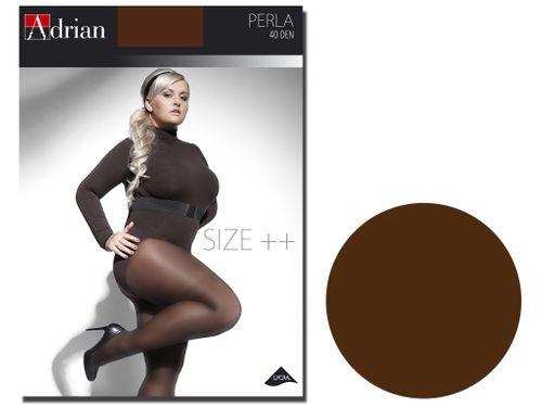 Rajstopy Perla size plus 40 den mikrofibra Chocolate 7 na Arena.pl