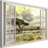 Obraz na płótnie - Canvas, okno - sawanna 120x80 zdjęcie 1
