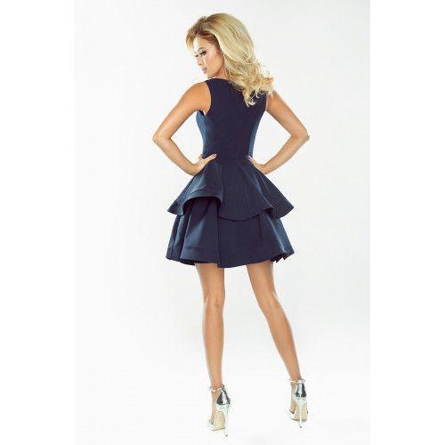 Sukienka CRISTINA rozkloszowana - GRANATOWA XL zdjęcie 4