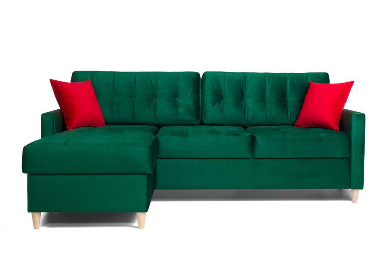 Narożnik Baron, styl skandynawski, drewniane nóżki, poduszki zdjęcie 1