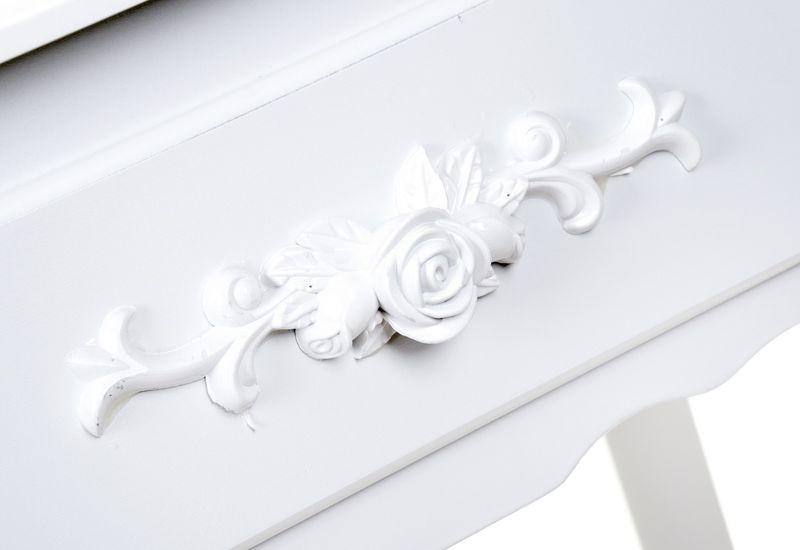 Toaletka kosmetyczna GIOSEDIO biała z lustrem + taboret,model DTW003 zdjęcie 1