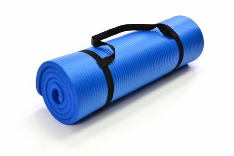 Mata piankowa do jogi i gimnastyki 190 x 60 x 1,5 niebieska D02266