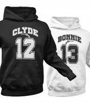 Bluzy dla par z kapturem komplet zestaw CLYDE 01