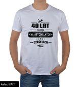 Koszulka męska na urodziny 30 40 50 60 70 lat XL zdjęcie 7