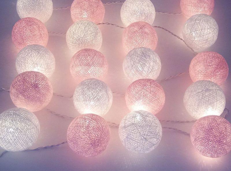 Cotton Ball 10 Kul Led Kule świecące 6 Cm Lampki Balls